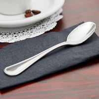 World Tableware 407 007 Calais 4 3/8 inch 18/8 Stainless Steel Extra Heavy Weight Demitasse Spoon - 12/Case