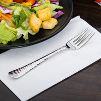 World Tableware 994 038 Aspire 6 7/8 inch 18/8 Stainless Steel Extra Heavy Weight Salad Fork - 36/Case