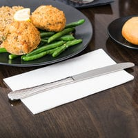World Tableware 994 5502 Aspire 9 3/4 inch 18/8 Stainless Steel Extra Heavy Weight Solid Handle Dinner Knife with Fluted Blade - 36/Case
