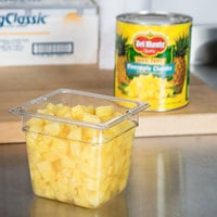 Del Monte #10 Can Pineapple Chunks in Juice - 6/Case