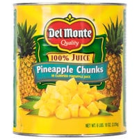 Del Monte #10 Can Pineapple Chunks in Juice