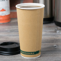 EcoChoice 20 oz. Double Wall Kraft Compostable Paper Hot Cup - 500/Case