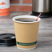 EcoChoice 10 oz. Double Wall Kraft Compostable Paper Hot Cup - 500/Case