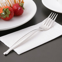 World Tableware 991 030 Esquire 18/8 Extra Heavy Weight Stainless Steel 7 3/8 inch Utility / Dessert Fork - 36/Case