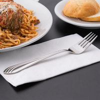 World Tableware 980 027 Neptune 7 7/8 inch 18/8 Stainless Steel Extra Heavy Weight Dinner Fork - 36/Case