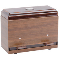 Vollrath 3825-12 Straw Boss Single Sided Bulk Unwrapped Straw Dispenser - Dark Walnut Woodgrain