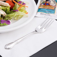 World Tableware 117 038 Lady Astor II 6 1/4 inch 18/8 Stainless Steel Extra Heavy Weight Salad Fork - 36/Case