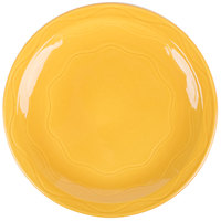 Syracuse China 903033002 Cantina 11 1/4 inch Saffron Carved Round Porcelain Plate - 12/Case