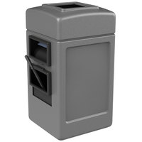 Commercial Zone 755103 28 Gallon Islander Series Gray Harbor Square 1 Waste Container with Towel Dispenser, Squeegee, and Windshield Wash Station