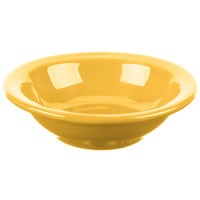 Syracuse China 903044172 Cantina 4 oz. Saffron Uncarved Porcelain Fruit Bowl - 36/Case