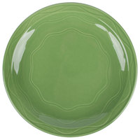 Syracuse China 903035010 Cantina 9 inch Sage Carved Round Porcelain Plate - 12/Case