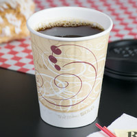 Solo IC12-J8000 Duo Shield Symphony 12 oz. Poly Paper Hot Cup - 600/Case