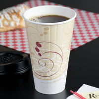 Solo IC20-J8000 Duo Shield Symphony 20 oz. Poly Paper Hot Cup - 350/Case