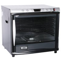 Weston 28-0301-W Steel Alloy 12-Rack Food Dehydrator with Glass Door - 1600W