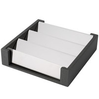 Vollrath V904725 Cubic Stainless Steel Sugar and Tea Packet Organizer with Wood Base
