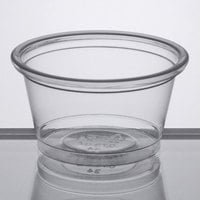 Choice 0.75 oz. Clear Plastic Souffle Cup / Portion Cup   - 100/Pack