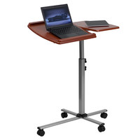 "Flash Furniture NAN-JN-2762-GG Adjustable Height Mobile Laptop Computer Table with Cherry Top - 29 1/4"" x 17 1/2"""
