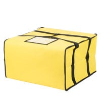 Choice Insulated Pizza Delivery Bag, Yellow Nylon, 20 inch x 20 inch x 12 inch - Holds Up To (6) 16 inch, (5) 18 inch, or (4) 20 inch Pizza Boxes