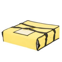 Choice Insulated Pizza Delivery Bag, Yellow Nylon, 18 inch x 18 inch x 5 inch - Holds Up To (2) 16 inch Pizza Boxes or (1) 18 inch Pizza Box