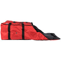 ServIt Insulated Pizza Delivery Bag, Red Soft-Sided Heavy-Duty Nylon, 20 inch x 20 inch x 12 inch - Holds Up To (6) 16 inch, (5) 18 inch, or (4) 20 inch Pizza Boxes