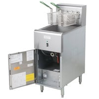 Dean SR114E Super Runner Economy 40 lb. Electric Floor Fryer - 208V, 1 Phase