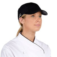 Headsweats Black 5-Panel Chef Cap with Eventure Fabric and Terry Sweatband