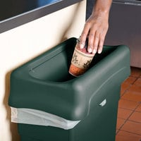 Rubbermaid 1829400 Slim Jim Green Drop Shot Rectangular Trash Can Lid