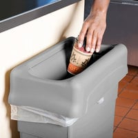 Rubbermaid FG267360GRAY Slim Jim Gray Drop Shot Rectangular Trash Can Lid