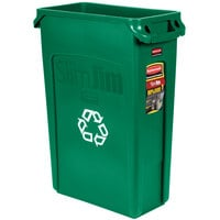 Rubbermaid FG354007GRN Slim Jim 23 Gallon Green Rectangular Recycling Bin