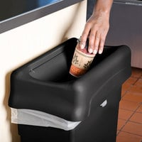 Rubbermaid FG267360BLA Slim Jim Black Drop Shot Rectangular Trash Can Lid