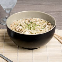 Elite Global Solutions JW542T Karma 1.5 Qt. Ebony and Sand Round Two-Tone Melamine Bowl - 6/Case