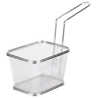 Clipper Mill by GET 4-81868 5 inch x 4 inch x 3 1/4 inch Stainless Steel Single Serving Mini Fry Basket
