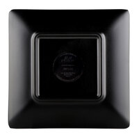 Elite Global Solutions JW552T 5 inch Karma Black and Red Square Two-Tone Melamine Plate - 6/Case