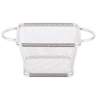 Clipper Mill by GET 4-81865 4 inch x 3 1/4 inch x 2 1/4 inch Stainless Steel Single Serving Fry Basket with Round Handles