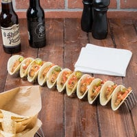 Clipper Mill by GET 4-81828 15 inch Stainless Steel Taco Stand - Holds 11 or 12 Mini Tacos