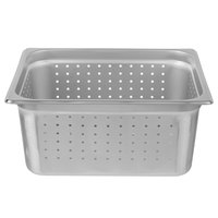 Choice 1/2 Size 6 inch Deep Anti-Jam Perforated Stainless Steel Steam table / Hotel Pan - 24 Gauge