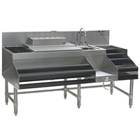 "Eagle Group CCS-60-1 Spec-Bar 60"" Stainless Steel Combination Cocktail Station with 12"" Liquor Display"