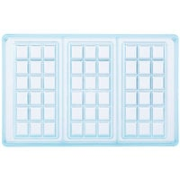 Matfer Bourgeat 380240 Polycarbonate 3 Compartment Chocolate Tablet Mold