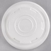 EcoChoice 8 oz. Translucent Compostable Soup / Hot Food Cup Vented Lid - 500/Case