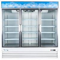 Avantco GDC-69-HC 78 1/4 inch White Swing Glass Door Merchandiser Refrigerator with LED Lighting