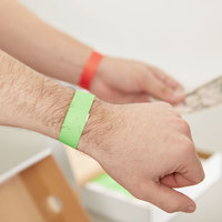 3/4 inch x 10 inch Red and Green Disposable Tyvek® Wristbands - 2000/Kit