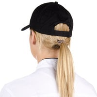 Choice Black 6-Panel Chef Cap