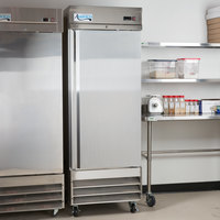 Avantco SS-1R-HC 29 inch Stainless Steel Solid Door Reach-In Refrigerator
