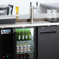 Avantco UDD-48-HC Double Tap Kegerator Beer Dispenser - Black, (2) 1/2 Keg Capacity