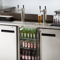 Avantco UDD-72-HC-S (2) Double Tap Kegerator Beer Dispenser - Stainless Steel, (3) 1/2 Keg Capacity
