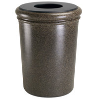 Commercial Zone 720918 StoneTec 50 Gallon Aspen Round Stone Trash Receptacle with Lid