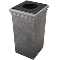 Commercial Zone 722119 StoneTec 30 Gallon Pepperstone Square Trash Receptacle with Lid