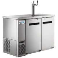 Avantco UDD-48-HC-S Double Tap Kegerator Beer Dispenser -Stainless Steel, (2) 1/2 Keg Capacity