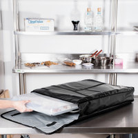 Intedge Insulated Delivery Bag, Full Size Bun / Sheet Pan Carrier, Black Vinyl, 18 inch x 26 inch x 5 inch