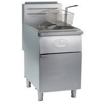 Globe GFF80G Natural Gas 80 lb. Stainless Steel Floor Fryer